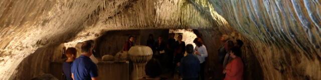 la grotte pétrifiante à Trôo