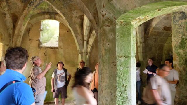 Intérieurs de la forteresse médiévale de Lavardin