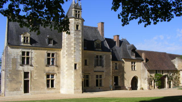 Façade de la maison natale de Ronsard à Vallée de Ronsard