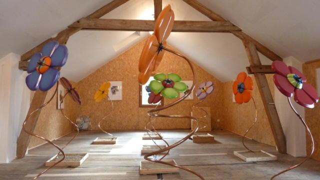 Exposition de fleurs à Ec(o)tone atelier galerie à Vendôme