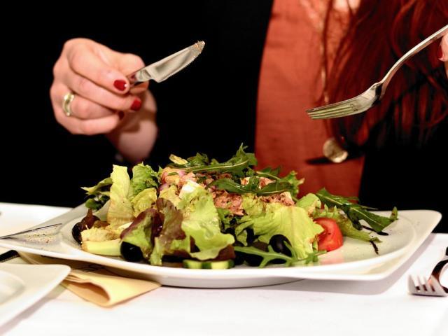 Présentation d'assiette dans un restaurant Vendômois