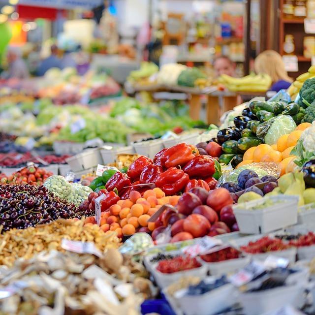 Étal de marché en Vendômois