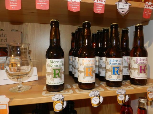 Bière artisanale Ronsard fabriquée à la Brasserie Guillaume à Cour-Cheverny - Boutique Office de Tourisme à Vendôme