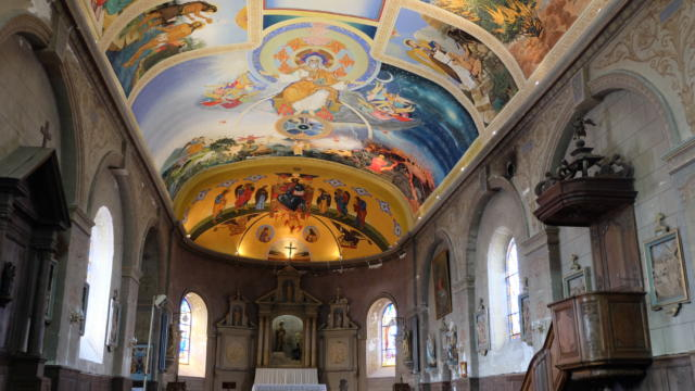 Eglise à fresques de Meslay
