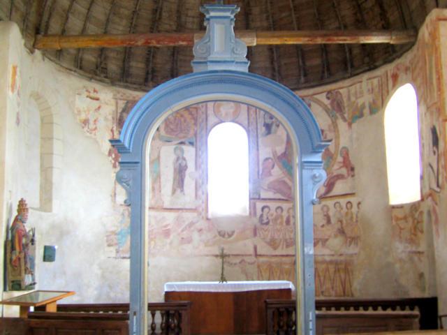 Eglise à fresques Saint Jacques Des Guérets