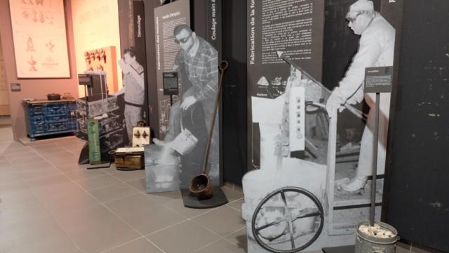 Intérieur du musée de la Fonderie à Fréteval