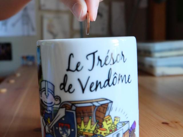 Tirelire trésor de Vendôme - Boutique Office de Tourisme à Vendôme