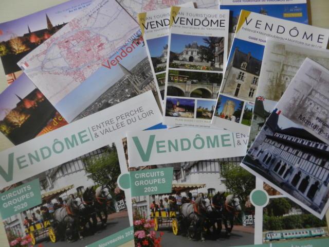 Brochures de l'Office de Tourisme de Vendôme - Territoires Vendômois