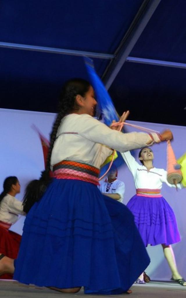 Spectacle pendant le Festival de folklore à Montoire-sur-le Loir